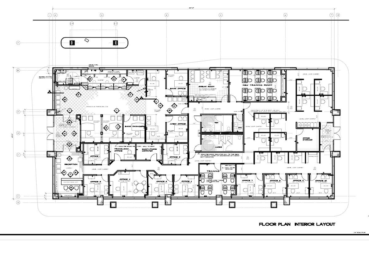 Commercial bank layout floor plan joy studio design for Online office layout planner