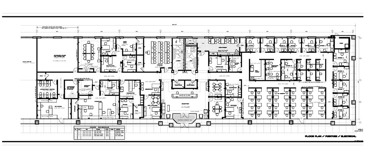 Office layouts rainey contract design memphis and for Office layout plan design